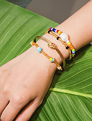 cheap -Women's Bracelet Classic Precious Stylish Colorful Alloy Bracelet Jewelry Gold For Gift Daily Carnival Street Holiday
