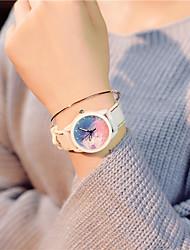 cheap -Women's Quartz Watches Quartz New Arrival Chronograph Synthetic Diamond Silicone White Analog - Blue Green / Imitation Diamond