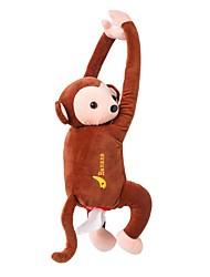 Недорогие -Творческий мультфильм обезьяна домашний офис автомобиль висит бумажная салфетка ткани коробка держатель крышки портативная бумажная коробка