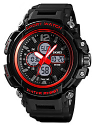 cheap -SKMEI Kids Digital Watch Digital Sporty Outdoor Water Resistant / Waterproof Analog - Digital Black Red Blue / Two Years / PU Leather / Calendar / date / day / Chronograph / Noctilucent