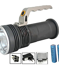 cheap -LED Flashlights / Torch Waterproof Rechargeable 1000 lm LED - Emitters 3 Mode with Batteries and Charger Waterproof Zoomable Rechargeable Impact Resistant Camping / Hiking / Caving Everyday Use