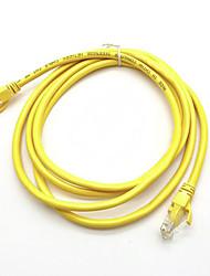 Недорогие -3 м желтый внешняя сеть ethernet кабель cat5e 100% медь RJ45 высочайшее качество mar24