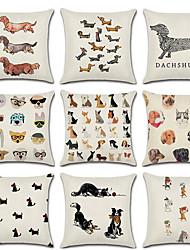 Недорогие -9 шт. Льняная наволочка, собака животных мультфильм моды подушка