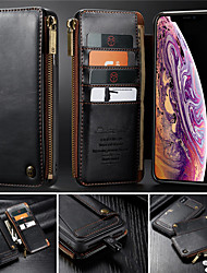 cheap -Zippered Wallet case with Card Slot for iPhone11 Por Max iPhoneXs Max X Xs XR 7 8 Plus
