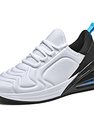 cheap -Men's Comfort Shoes Elastic Fabric Fall / Spring & Summer Sporty / Casual Athletic Shoes Running Shoes / Fitness & Cross Training Shoes Breathable Color Block Black / White / Red