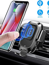 cheap -Baseus Qi Car Wireless Charger Air Vent Automatic Mount Holder For iPhone 8 Plus XR X XS Max Samsung Galaxy S10 S10+ S10e S9 S8 Intelligent Infrared Sensor Fast Wireless Charging