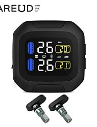 cheap -Motorcycle Tire Pressure Monitoring System Wireless Motorcycle TPMS Tires Motor Auto Tyre Alarm System Waterproof with 2 Internal Sensors for Two-Wheeled Motorcycle