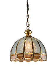 cheap -1-Light Lightinthebox 30 cm Chandelier Copper Glass Drum / Bowl Traditional / Classic / Country 220-240V