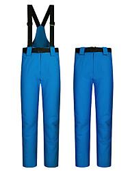 cheap -Men's Ski / Snow Pants Ski Bibs Thermal Warm Waterproof Windproof Rain Waterproof Autumn / Fall Warm Pants for Downhill Winter Sports / Cotton / Solid Colored / Breathable