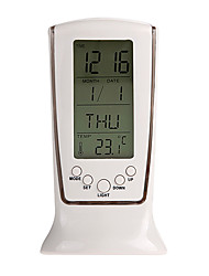cheap -Top quality smart home digital LED backlit LCD display alarm clock thermometer calendar home universal electronic clock