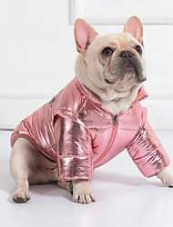 cheap -Dog Coat Winter Dog Clothes Silver Red Pink Costume Cotton Print Cosplay XS S M L XL XXL