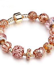 cheap -Women's Cubic Zirconia Chain Bracelet Hollow Out Flower Fashion Rhinestone Bracelet Jewelry Gold For Daily Work