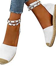 cheap -Women's Flats Flat Heel Round Toe PU(Polyurethane) Summer White / Blue / Pink