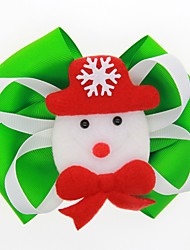 cheap -Kids / Toddler / Newborn Unisex / Girls' Active / Sweet Snowman Cartoon Bow Nylon Hair Accessories Black / Red / Green One-Size