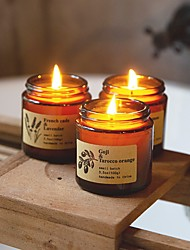 cheap -Craft & Kin Fresh Linen Candle, Premium Scented Candles for Men & Women | All-Natural Soy Candles, Rustic Home Decor Scented Candles | Non-Toxic, Ultra Clean Burn Aromatherapy Amber Jar Candles