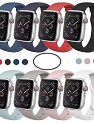 Недорогие -SmartWatch группа для Apple Watch серии 5/4/3/2/1 Apple, спортивная группа моды мягкий удобный силиконовый ремешок на запястье