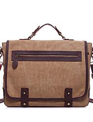 cheap -Men's Zipper Canvas Crossbody Bag Solid Color Army Green / Khaki