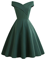 cheap -Audrey Hepburn Dresses 1950s Vintage Inspired Vacation Dress Prom Dresses Dress A-Line Dress Tea Dress Rockabilly Women's Spandex Costume Red / Black / Green Vintage Cosplay Homecoming Wedding Party