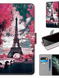cheap -Case For Apple iPhone 11 / iPhone 11 Pro / iPhone 11 Pro Max Wallet / Card Holder / with Stand Full Body Cases Eiffel Tower PU Leather / TPU