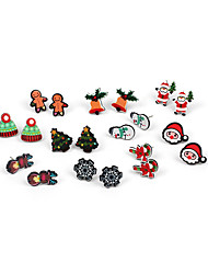 cheap -Women's Stud Earrings Earrings Earrings Set Classic Santa Suits Snowflake Christmas Tree Simple Classic Cartoon Fashion Colorful Earrings Jewelry Rainbow For Christmas Gift Daily Street Festival 10