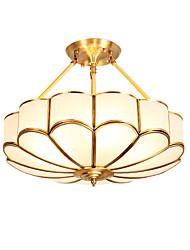 cheap -Lightinthebox 4-Light 45 cm Chandelier Copper Glass Empire Traditional / Classic / Country Generic / E26 / E27