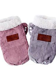 baratos -Cachorros Casacos Inverno Roupas para Cães Rosa claro Cinzento Ocasiões Especiais Veludo Cotelê Retalhos Fantasias XS S M L XL