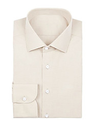 cheap -Beige Twill Dress Shirt