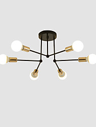 cheap -feimiao 6-Light 60 cm Flush Mount Lights Metal Linear Electroplated Painted Finishes Modern Nordic Style 110-120V 220-240V E26 E27