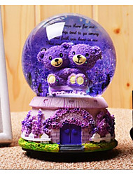 cheap -Balls Music Box Snow Globe Bear Furnishing Articles Kid's Adults Kids Gift Crystal Boys' Girls' Gift