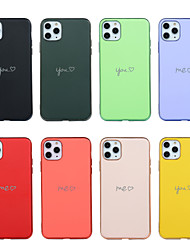 cheap -Case for Apple scene map iPhone 11 11 Pro 11 Pro Max X XS XR XS Max 8 Pure color love pattern skin-friendly touch fine matte super electroplated TPU material all-inclusive mobile phone case