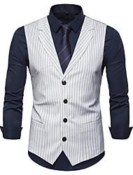 cheap -James Bond Gentleman Vintage Double Breasted Waistcoat Men's Slim Fit Costume Black / White / Navy Blue Vintage Cosplay Party Halloween / Vest