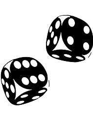 cheap -2pcs 13.4*13CM Interesting Car Sticker Casino Poker Dice High Quality Decoration Vinyl Graphic