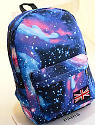 cheap -Unisex Pattern / Print Canvas School Bag Backpack Stars Blushing Pink / Dark Blue
