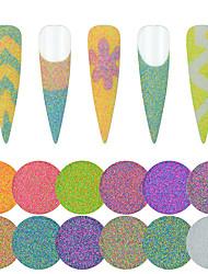 Недорогие -12 цветов голо глиттер пудра для ногтей уф-гель лак для ногтей украшения матовый сахар окунание пудра маникюрные инструменты