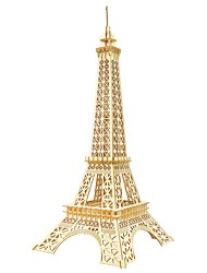 cheap -3D Puzzle Wooden Puzzle Eiffel Tower Simulation Hand-made Wooden 94 pcs Kid's Adults' All Toy Gift