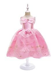 cheap -Princess Dress Masquerade Flower Girl Dress Girls' Movie Cosplay A-Line Slip Cosplay Vacation Dress Pink Dress Halloween Carnival Masquerade Tulle Polyster