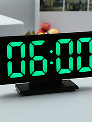 cheap -Digital Alarm Clock LED Mirror Electronic Clocks Multifunction Large LCD Display Digital Table Clock with Temperature Calendar