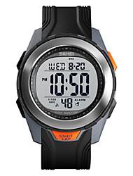 Недорогие -SKMEI Муж. электронные часы Цифровой Спортивные Искусственная кожа Черный 50 m Защита от влаги Секундомер С гравировкой Цифровой На открытом воздухе - Черный Черный / Белый Черный / Серебристый