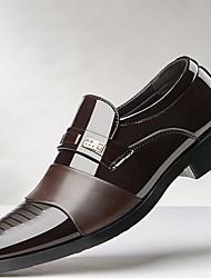 baratos -Homens Sapatos Confortáveis Microfibra Inverno Mocassins e Slip-Ons Preto / Marron