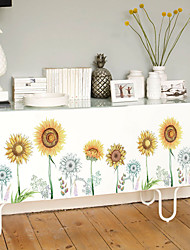 cheap -SK9291 hand-painted sunflower glass door and window TV background decorative wall sticker removable