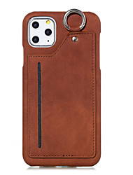 cheap -Case for Apple scene map iPhone 11 11 Pro 11Pro Max X XS XR XS MaxNew solid color PU leather back card hanging ring mobile phone case MS