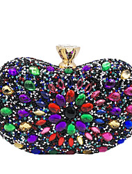 cheap -Women's Bags Polyester Evening Bag Glitter Crystals for Event / Party / Date Black Grey / Black / Blue / Blushing Pink / Dusty Rose / Gold / Light Gold / Wedding Bags