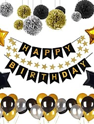 cheap -Birthday Decorations, Birthday Party Decorations Party Supplies Birthday Balloons Confetti with Happy Birthday Balloons Banner