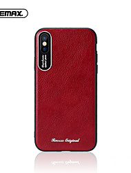 cheap -Case For Apple iPhone XS / iPhone XR / iPhone XS Max Ultra-thin Back Cover Solid Colored PU Leather / TPU