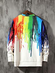 cheap -Women's Basic Loose Sweatshirt - 3D Rainbow M
