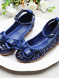 cheap -Girls' Flower Girl Shoes Synthetics Flats Little Kids(4-7ys) / Big Kids(7years +) Bowknot / Sequin / Buckle Red / Blue Spring / Fall