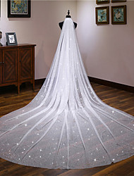 cheap -One-tier Classic Style / Lace Wedding Veil Cathedral Veils with Solid / Pattern 157.48 in (400cm) POLY / Lace