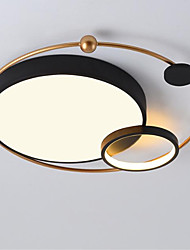 cheap -1-Light Simple Modern Led Ceiling Lamp Room Lighting Creative Warm Romantic Circular Lamps Lighting 28W