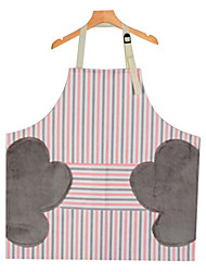 cheap -Kitchen Household Cooking Waterproof Oilproof Women Apron Stripe Sleeveless Erasable Hand Aprons Barber Hair Cutting Apron