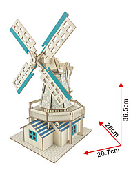 cheap -RUOTAI 3D Puzzle Wooden Model Windmill Solar Powered DIY Wooden 1 pcs Kid's Adults' Boys' Girls' Toy Gift